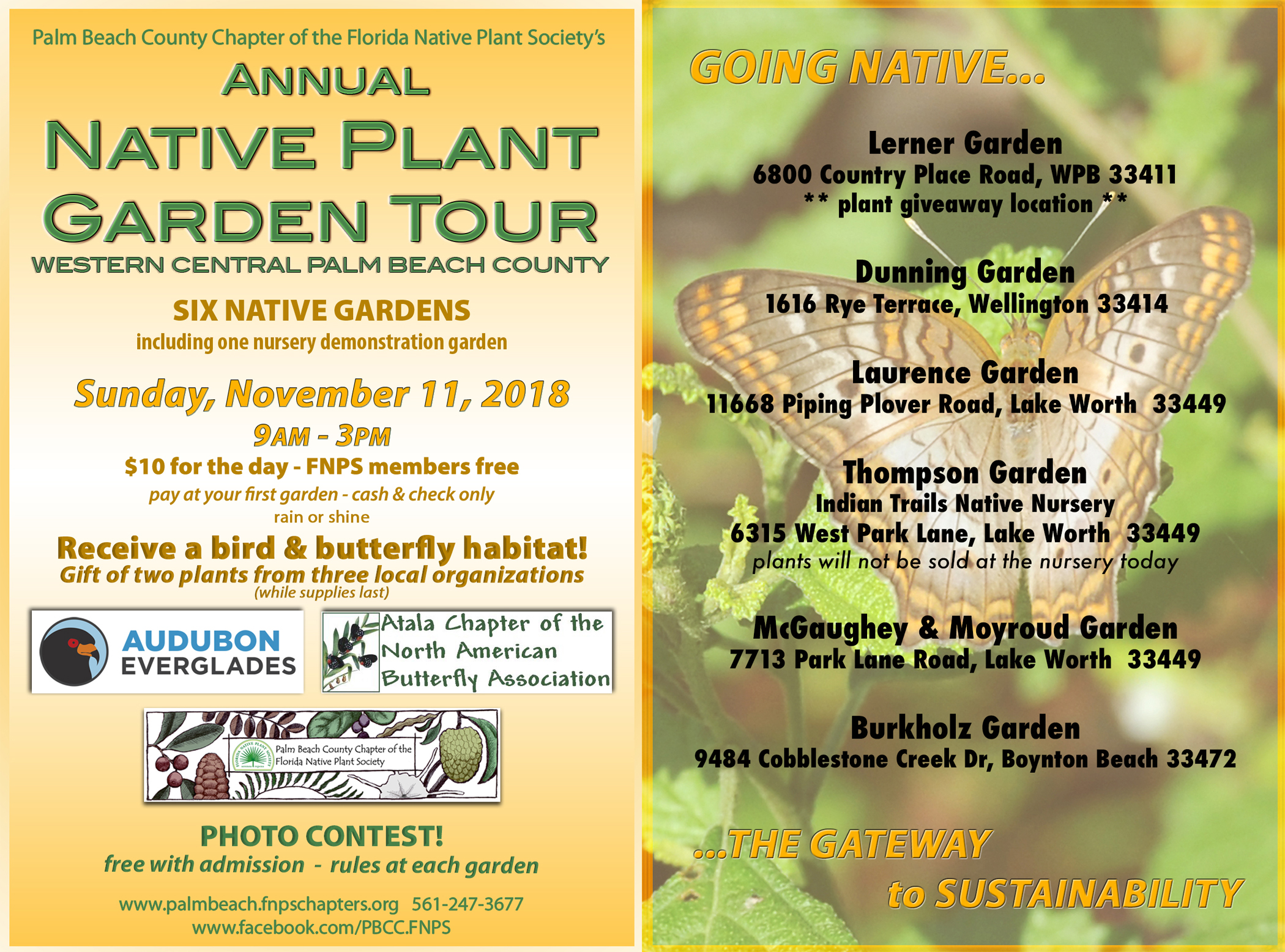 2018 Native Plant Garden Tour and Photo Contest - Palm Beach